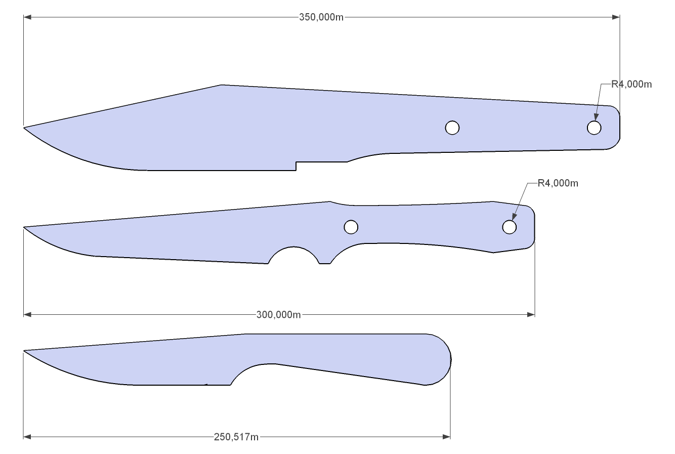Image Gallery knife designs patterns drawings